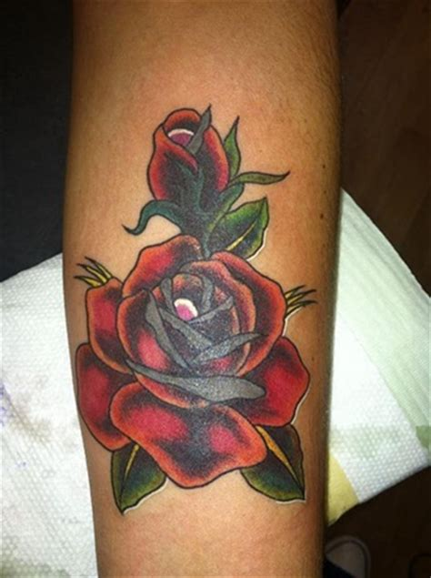 infinity tattoo nyc red rose open close