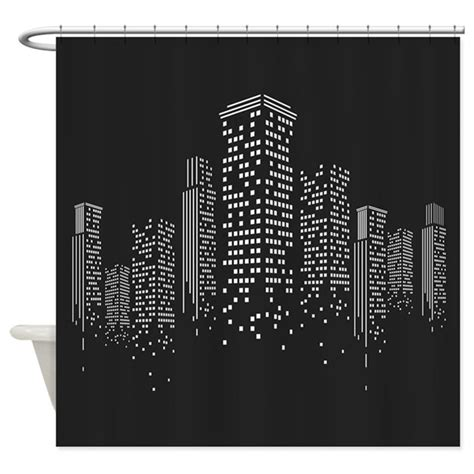 city scape shower curtain cityscape shower curtain by bestshowercurtains