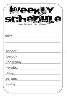 Medium Schedule Notebook small types back to school schedules http www