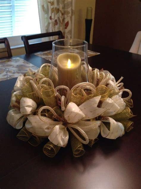 christmas table wreath centerpieces deco mesh centerpieces black and gold deco mesh centerpiece with accentscraftydebora adastra