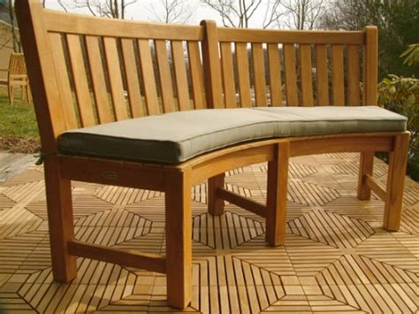 bench outlet new westminster sunbrella curved bench cushion westminster teak outdoor