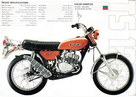 Stang Piston Suzuki Ts125 Made In Japan a belated defense of the quot trail bike quot vintage motor company