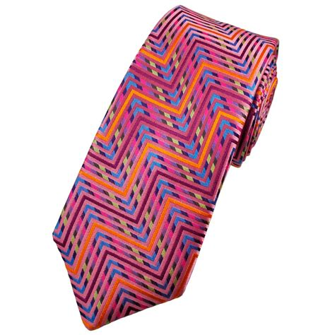 Limited Editions 7753 Silk Zigzag buck platinum shades of pink zig zag stripe silk