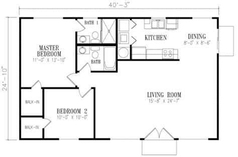 floor plans 1000 square feet mediterranean style house plan 2 beds 2 baths 1000 sq ft