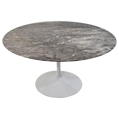 knoll grey marble saarinen tulip table at 1stdibs