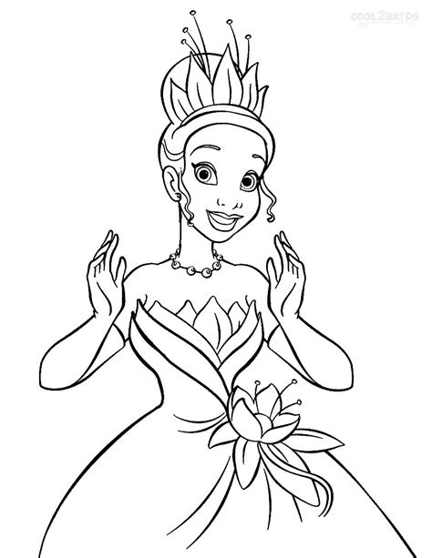 Printable Princess Tiana Coloring Pages For Kids Cool2bkids Princesscoloring Pages Printable