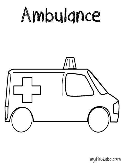 ambulance free colouring pages