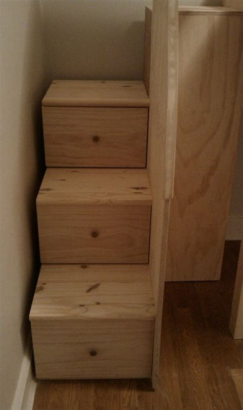 staircases  drawers loft loft bed  stairs woodworking project plans  bedroom