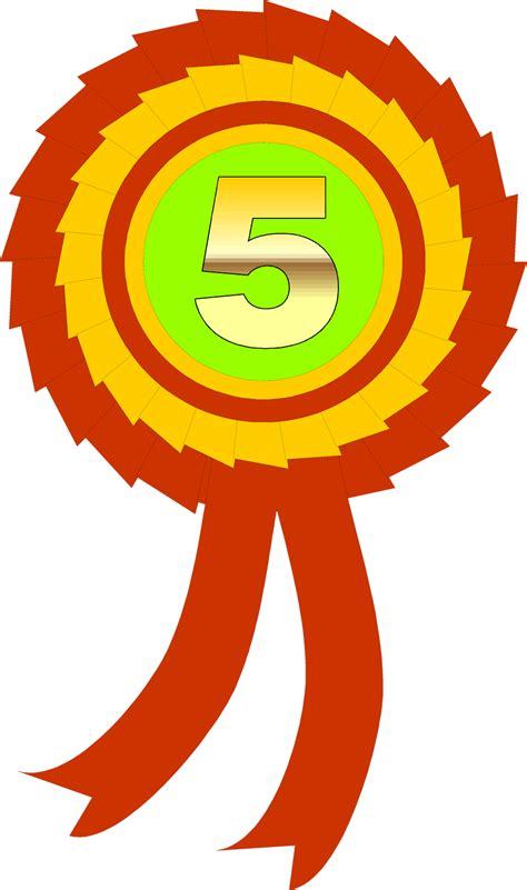 Ribbon Parti Kinds 3th 5th Ribbon Free Stock Photo Illustration Of A Fifth Place