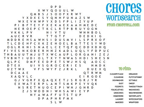 printable word searches for kids chores wordsearch free printable downloads from choretell