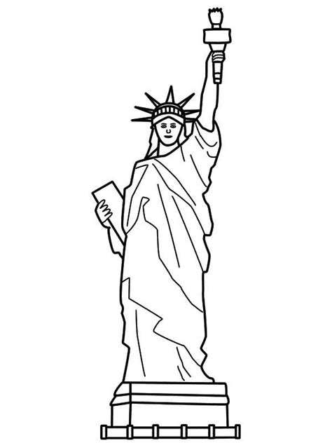 statue of liberty coloring sheet get coloring pages
