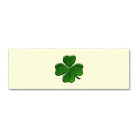 of clovers card template 4 leaf clover template st patricks day