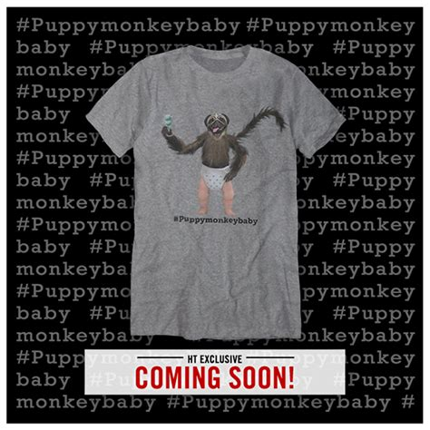 puppy monkey baby shirt would you wear topic s af new t shirt popbuzz