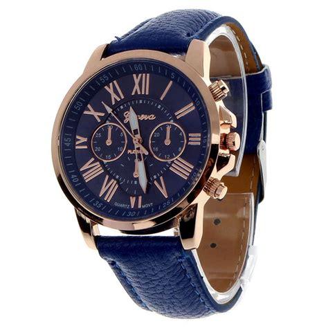 Jam Tangan Geneva Blue geneva jam tangan analog 9298 blue jakartanotebook