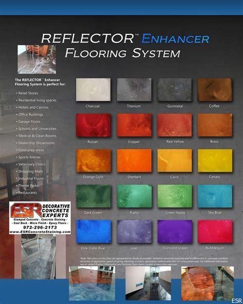 Garage Floor Epoxy Color Chart Color Chart Epoxy Floor Garage
