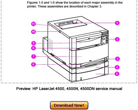 Hp Laserjet 4500 4500n 4500dn Service Repair Manual