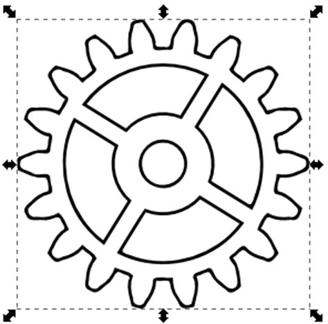 printable gear stencils nicu s how to drawing gears in inkscape