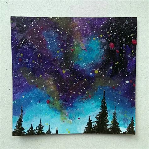 acrylic painting a galaxy galaxy sky by bullet paintings