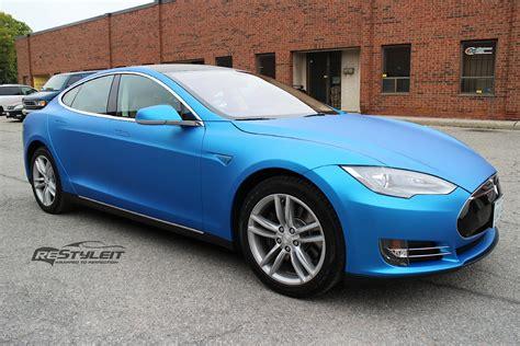 Tesla Aluminum Tesla Model S Gets Matte Blue Aluminum Wrap Autoevolution