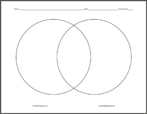 venn diagram pages venn diagrams free printable graphic organizers