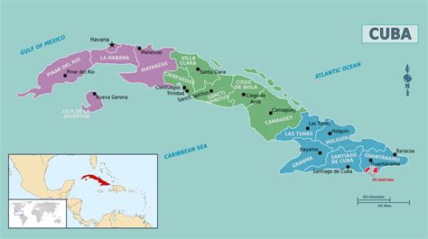 cuba on a map maps of cuba map library maps of the world