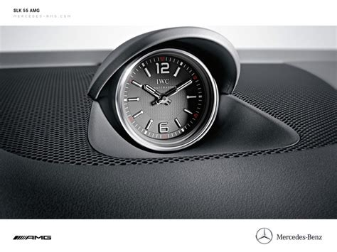 mercedes dashboard clock iwc dashboard clock inside a mercedes slk55 amg l