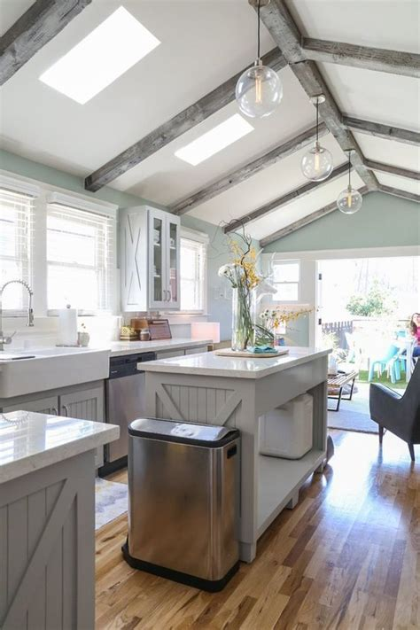 vaulted ceiling kitchen ideas 25 vaulted ceiling ideas with pros and cons digsdigs