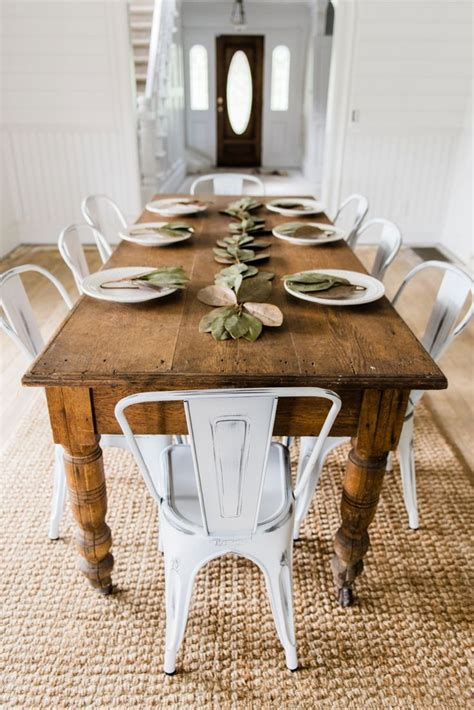 Farmhouse Dining Room Tables 17 Best Ideas About Farmhouse Table Chairs On Farmhouse Chairs Farmhouse Dining