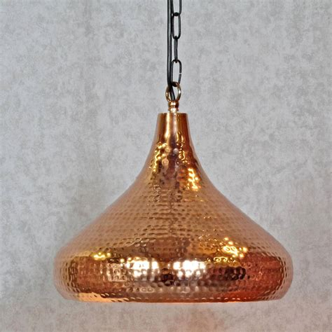 Copper Hammered Pendant Light By G Decor Hammered Pendant Light