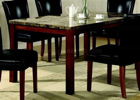 Table Telegraph by Telegraph Dining Table Set 5pc 120310 In Rich Cherry Coaster