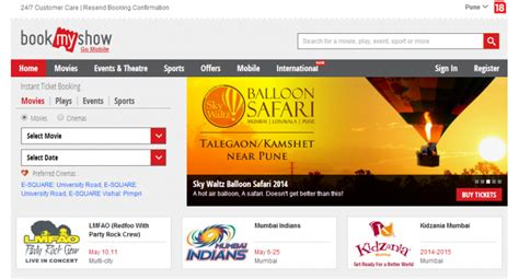 bookmyshow movies how to book movie or show ticket on bookmyshow