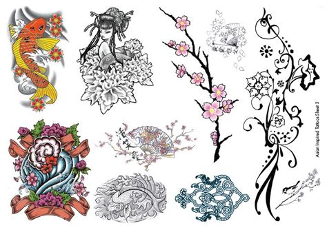 temporary tattoos asian inspired oriental body art