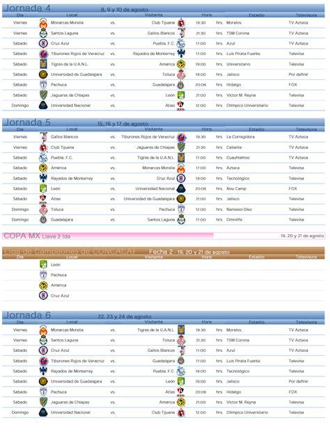 calendario liga mx apertura 2014 apertura liga mx 2014