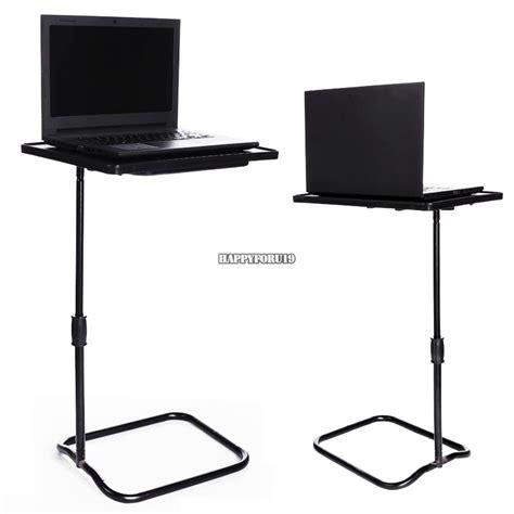 height adjustable laptop desk swivel bedside table stand tray  bed hfor ebay