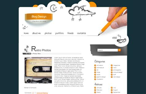a design template is 27 beautiful high quality free css and html templates