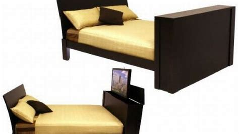 Beds With A Tv In The Footboard by A Push On The Remote Will Bring Out A Tv From The