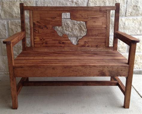 texas bench ana white texas themed bench diy projects