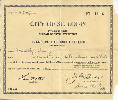 St Louis Missouri Birth Records Wirtz Family Of Prussia And St Louis Missouri The Heritage