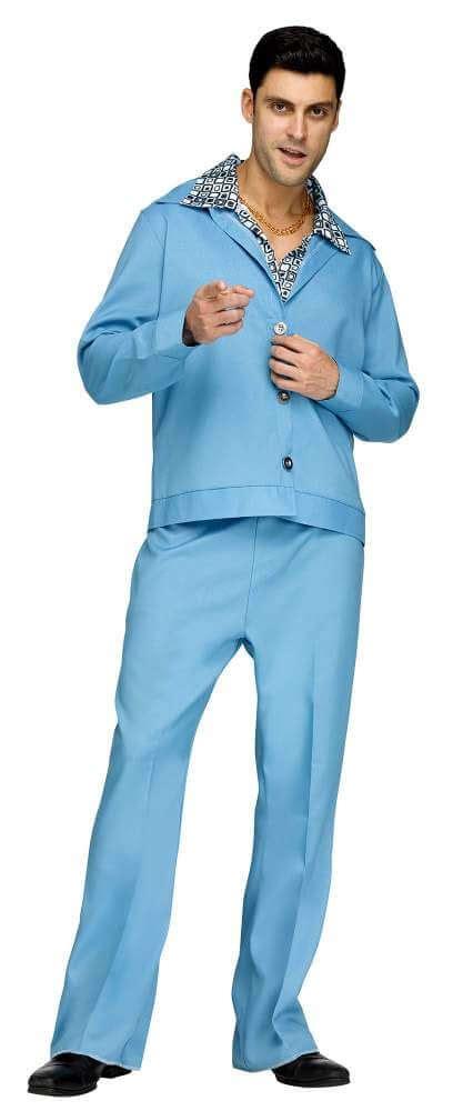 light blue costumes light blue 70 s leisure suit costume apple