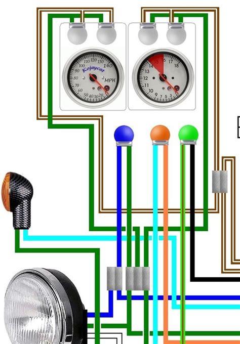 honda cb450 cb500 cl450 usa spec colour wiring harness diagram
