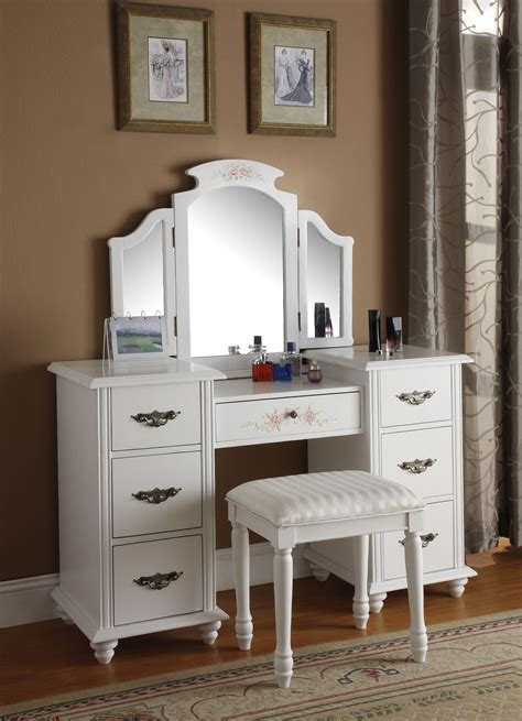 Vanity Table With Drawers Vanity Table With Mirror And Drawers Home Design Ideas