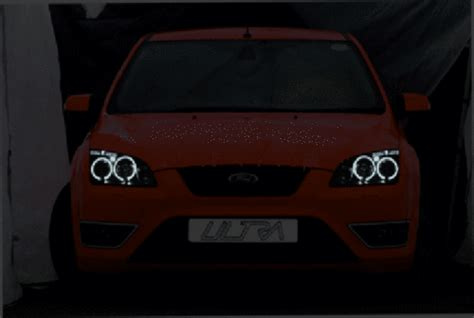 black led halo ring projector headlights lamps  fit ford focus mk   buy