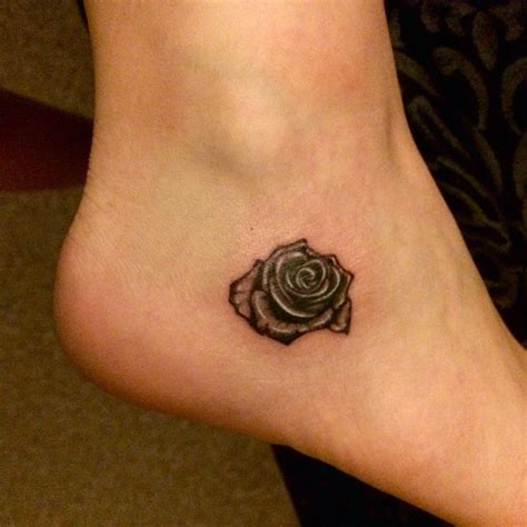 small rose tattoo on ankle small black and white ankle tattoos