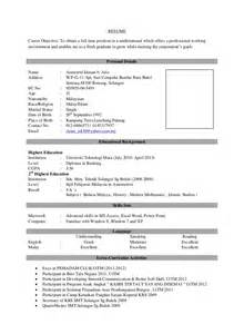 Best Resume Templates Malaysia by Fresh Graduates Resume Sample Latest Resume Format