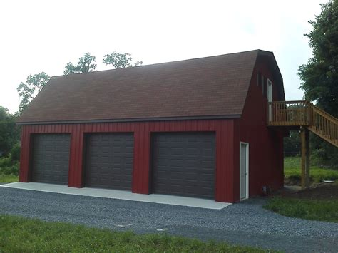 garage house kits 3 car pole garage with gambrel roof customer projects