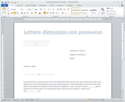 lettere di licenziamento modelli lettera di dimissioni my