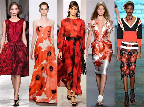 latest trends red florals from biggest trends at new york fashion week