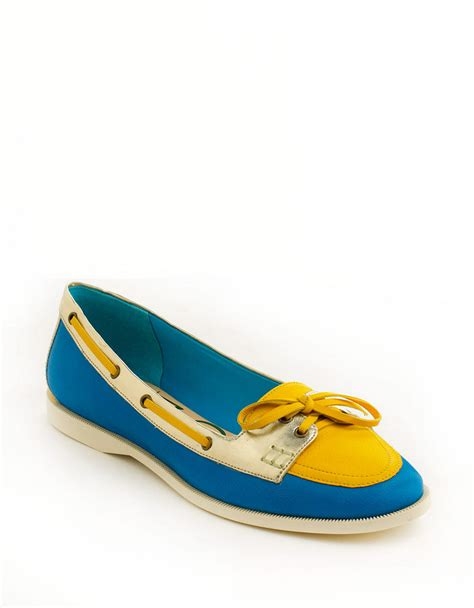 enzo shoes flats enzo angiolini raevon leather flats in blue lyst