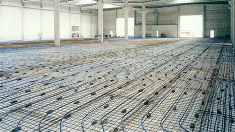 floor in anti heave underfloor heating