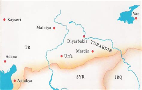 map of tur foundation for conservation and promotion of the aramaic